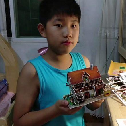拼模型纸屋