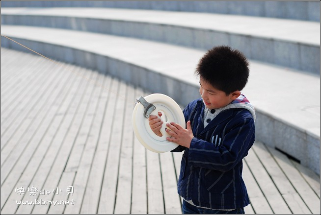 金东浩游新海公园之放风筝照片