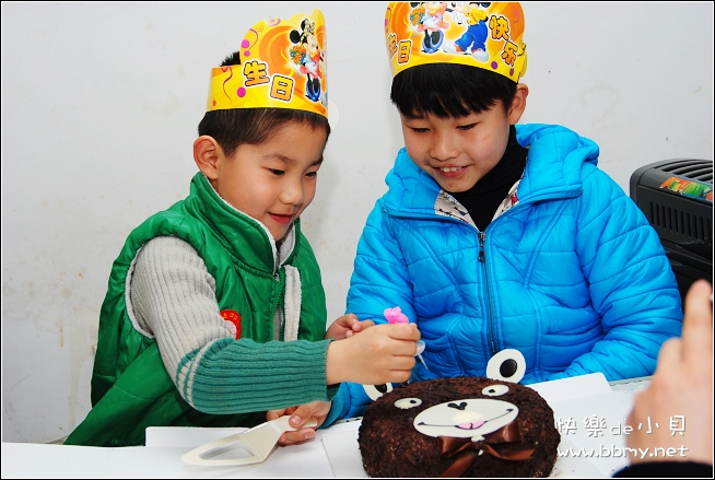 金东浩东东五周岁生日照片