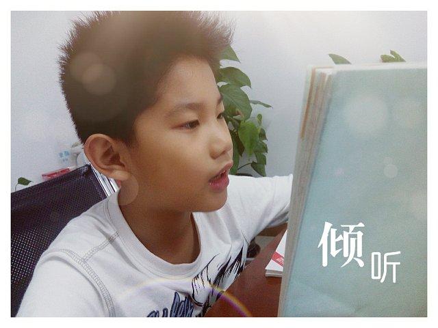 金东浩朗读课文照片