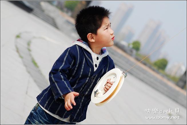 金东浩游新海公园之放风筝日记照片