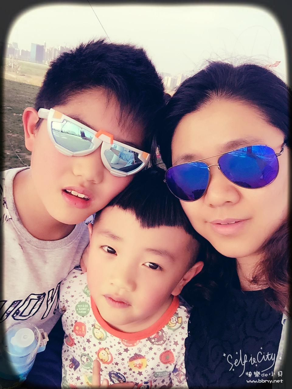 金东浩和表弟游庐州公园日记照片