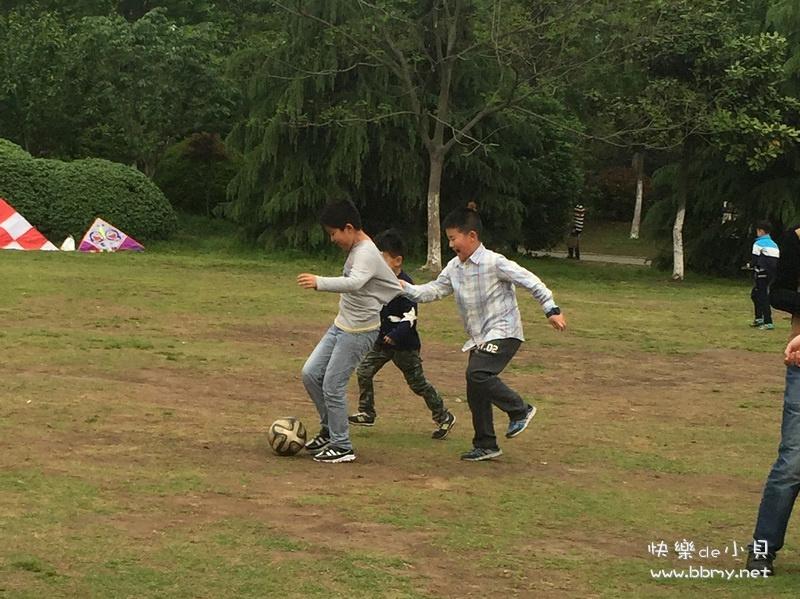 金东浩杏花公园踢足球日记照片